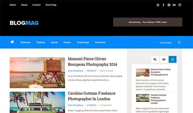 Top 60 Blogger Best Free Responsive News Themes 2019 Talkelement