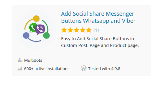 Add-Social-Share-Messenger-Buttons-Whatsapp-and-Viber - 30 Fantastic Free WordPress Social Share Plugins