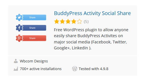 BuddyPress-Activity-Social-Share - 30 Fantastic Free WordPress Social Share Plugins