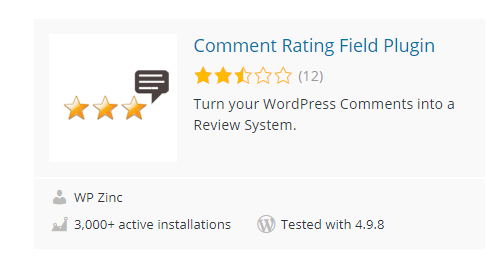 Comment-Rating-Field-Plugin - Top 30 Free WordPress Rating Plugins for Your Website
