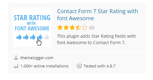 Contact-Form-7-Star-Rating-with-font-Awesome - Top 30 Free WordPress Rating Plugins for Your Website