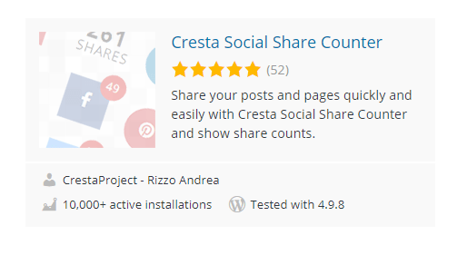 Cresta-Social-Share-Counter - 30 Fantastic Free WordPress Social Share Plugins