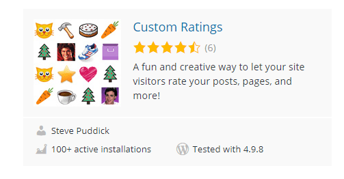 Custom-Ratings - Top 30 Free WordPress Rating Plugins for Your Website