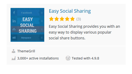 Easy-Social-Sharing - 30 Fantastic Free WordPress Social Share Plugins