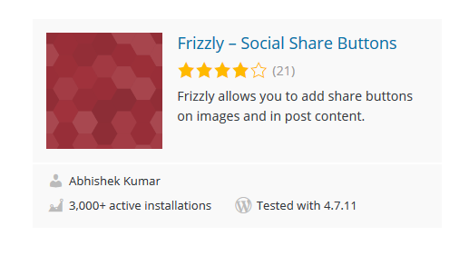 Frizzly - 30 Fantastic Free WordPress Social Share Plugins