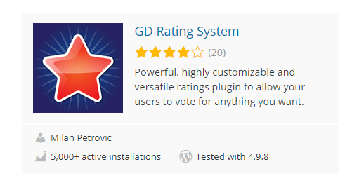 GD-Rating-System - Top 30 Free WordPress Rating Plugins for Your Website