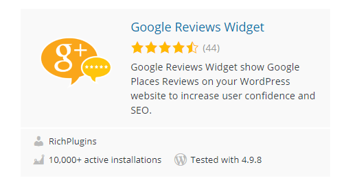 Google-Reviews-Widget - Top 30 Free WordPress Rating Plugins for Your Website