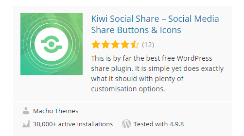 Kiwi-Social-Share - 30 Fantastic Free WordPress Social Share Plugins