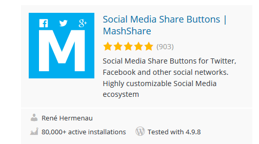 MashShare - 30 Fantastic Free WordPress Social Share Plugins