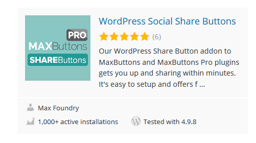 MaxButtons - 30 Fantastic Free WordPress Social Share Plugins