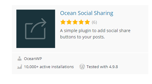 Ocean-Social-Sharing - 30 Fantastic Free WordPress Social Share Plugins
