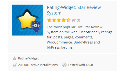 RatingWidget-Star-Review-System - Top 30 Free WordPress Rating Plugins for Your Website