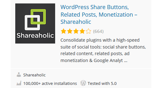 Shareaholic - 30 Fantastic Free WordPress Social Share Plugins