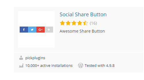 Social-Share-Button - 30 Fantastic Free WordPress Social Share Plugins