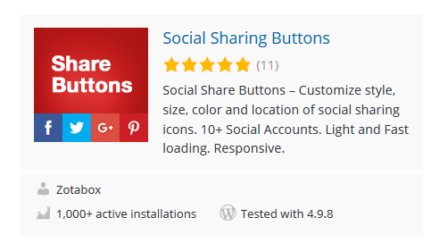 Social-Sharing-Buttons - 30 Fantastic Free WordPress Social Share Plugins
