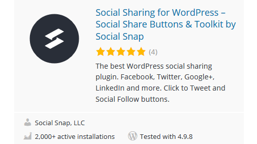 Social-Snap - 30 Fantastic Free WordPress Social Share Plugins