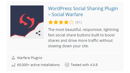 Social-Warfare - 30 Fantastic Free WordPress Social Share Plugins