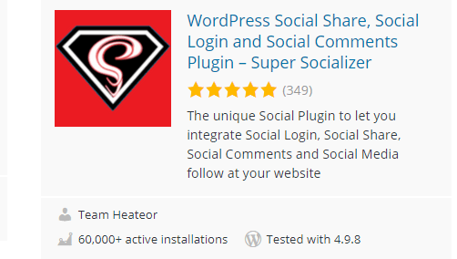 Super-Socializer - 30 Fantastic Free WordPress Social Share Plugins