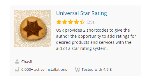 Universal-Star-Rating - Top 30 Free WordPress Rating Plugins for Your Website