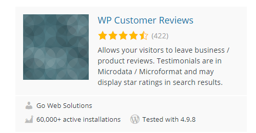 WP-Customer-Reviews - Top 30 Free WordPress Rating Plugins for Your Website
