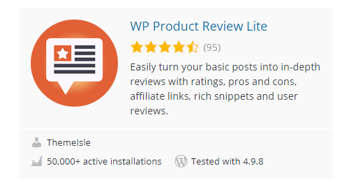 WP-Product-Review-Lite - Top 30 Free WordPress Rating Plugins for Your Website