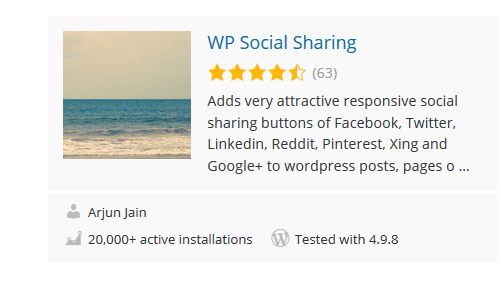WP-Social-Sharing - 30 Fantastic Free WordPress Social Share Plugins