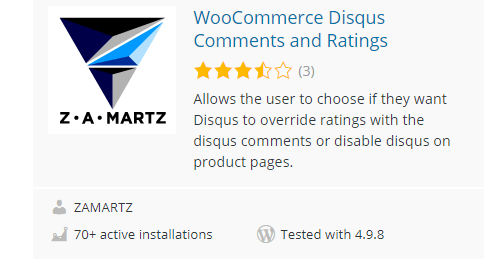 WooCommerce-Disqus-Comments-and-Ratings - Top 30 Free WordPress Rating Plugins for Your Website