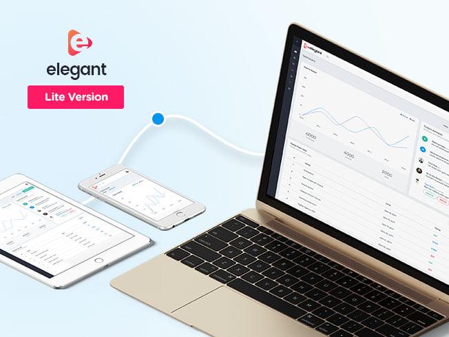 elegant-admin-lite-wp - 17 Free Bootstrap Responsive Admin Theme