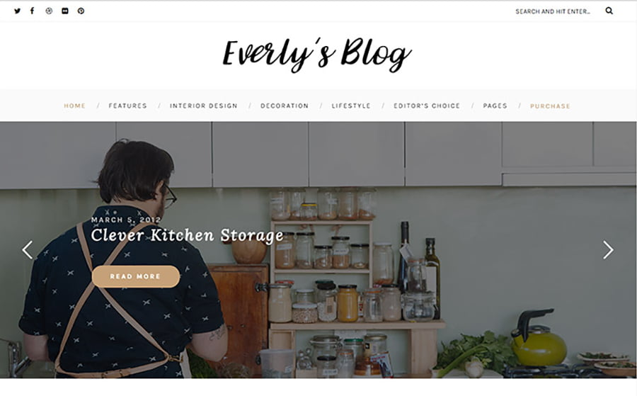 Everly - 15 Blogging WordPress Themes to Start a New Blog