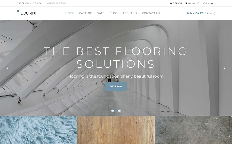Floorix - Best 10 Shopify Themes For Arts And Photography Websites