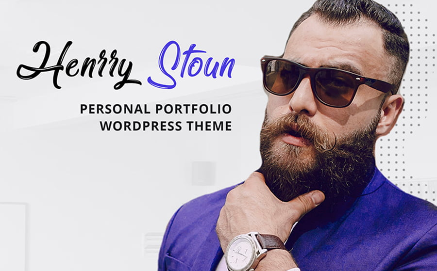 Henry-Stoun - 18 Blogging WordPress Themes to Start a New Blog
