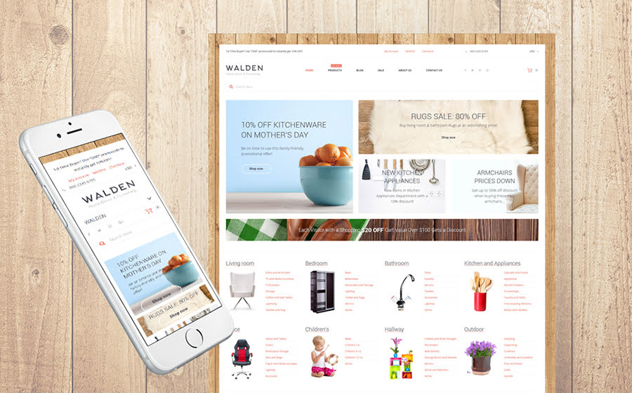 Home-Decor-Furnishing-Online-Supermarket - Best 10 Shopify Themes For Arts And Photography Websites