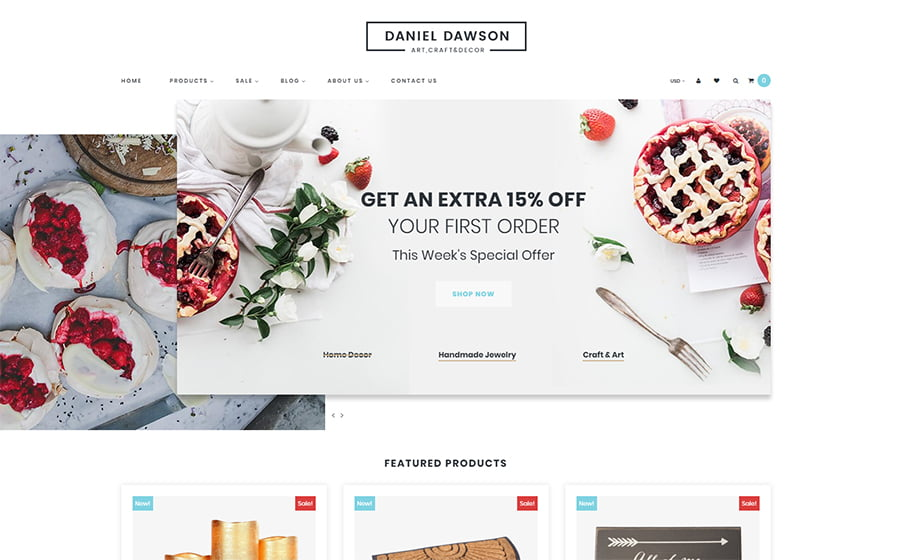 Home-Decor - Best 10 Shopify Themes For Arts And Photography Websites