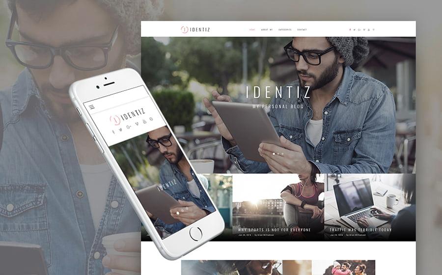 Identiz - 15 Blogging WordPress Themes to Start a New Blog