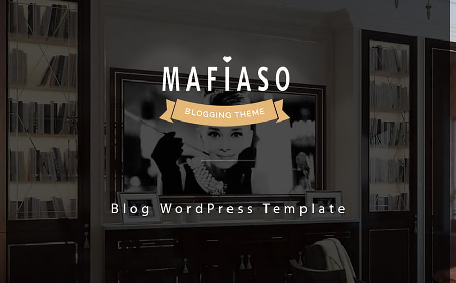 Mafiaso - 18 Blogging WordPress Themes to Start a New Blog