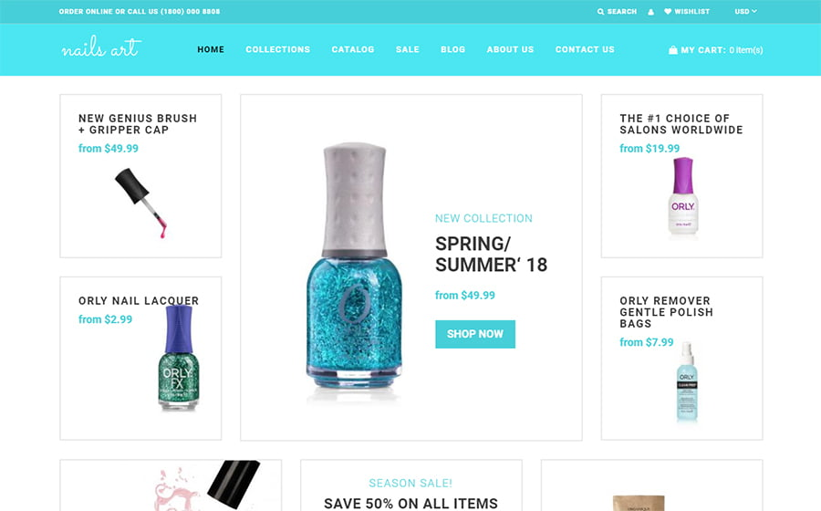 Nails-Art - Best 10 Shopify Themes For Arts And Photography Websites [year]