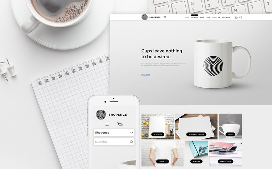 Printing-Company - Best 10 Shopify Themes For Arts And Photography Websites