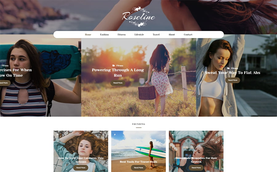 Roseline - 15 Blogging WordPress Themes to Start a New Blog