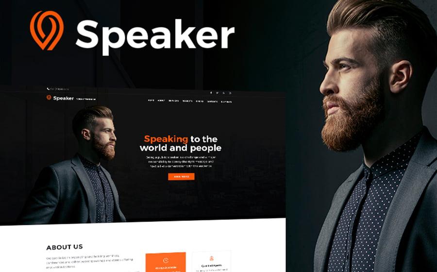 Speaker - 15 Blogging WordPress Themes to Start a New Blog