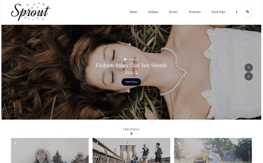 Sprout - 18 Blogging WordPress Themes to Start a New Blog
