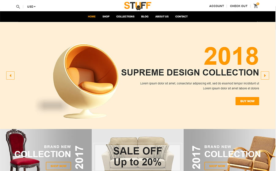 Stuff - Best 10 Shopify Themes For Arts And Photography Websites
