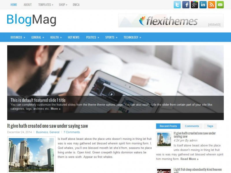 blogmag - BlogMag Free Responsive WordPress Theme
