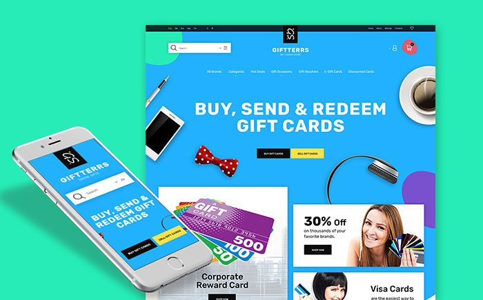 Creative-Gift-Cards-Responsive-Prestashop-Template - Bring Joy to Your Clients with 20 Inspiring Holiday & Gifts Templates [year]