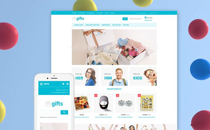 Giftware-Mobile-Friendly-OpenCart-Theme - Bring Joy to Your Clients with 20 Inspiring Holiday & Gifts Templates [year]