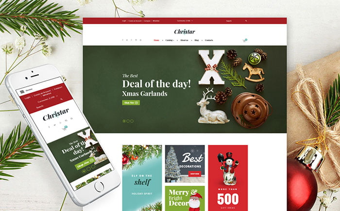 Inspiring-Xmas-Cross-Browser-VirtueMart-Template - Bring Joy to Your Clients with 20 Inspiring Holiday & Gifts Templates [year]