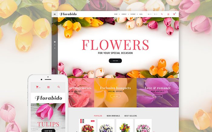 Jaw-Dropping-Bouquets-to-Order-PrestaShop-Theme - Bring Joy to Your Clients with 20 Inspiring Holiday & Gifts Templates [year]