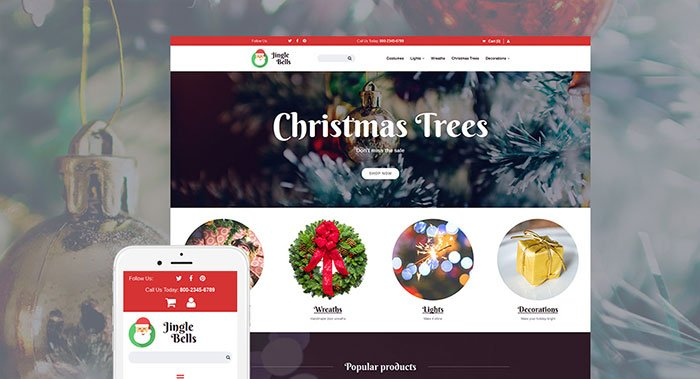 Unusual-Christmas-Party-Supplies-MotoCMS-Ecommerce-Theme - Bring Joy to Your Clients with 20 Inspiring Holiday & Gifts Templates [year]