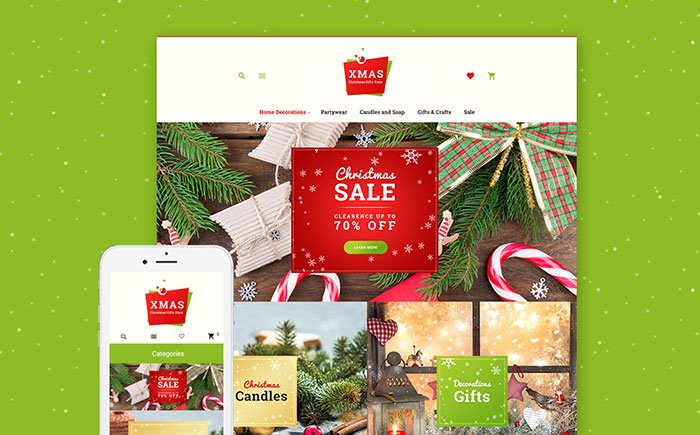 Xmas-Gifts-Responsive-Theme-for-Magento - Bring Joy to Your Clients with 20 Inspiring Holiday & Gifts Templates [year]
