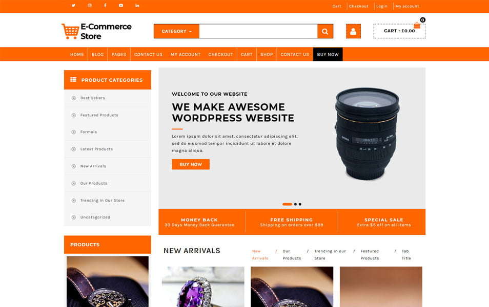Advance-Ecommerce-Store - 110+ Best Free ECommerce WordPress Themes 2019