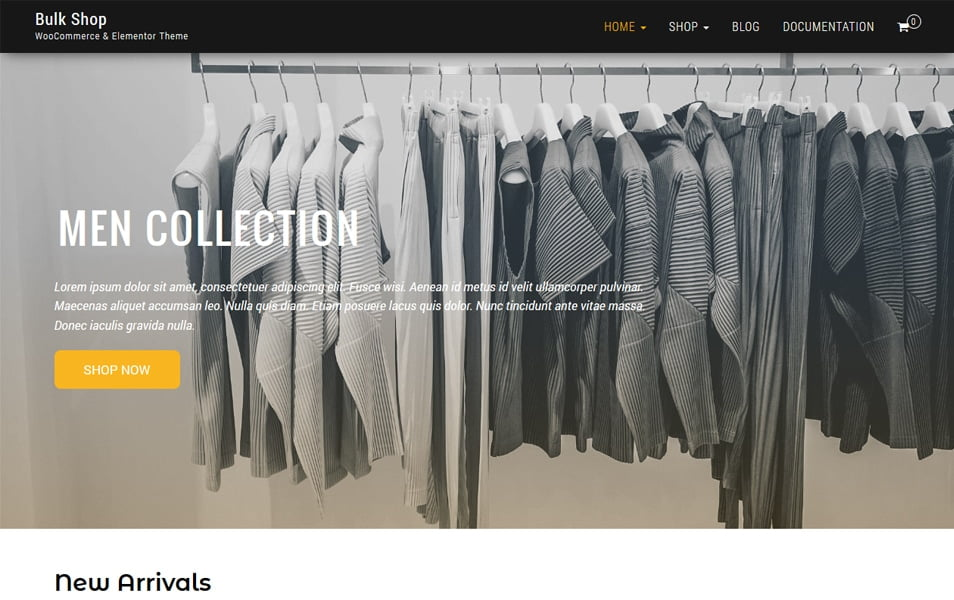 Bulk-Shop - 110+ Best Free ECommerce WordPress Themes 2019